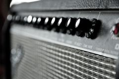 Guitar amplifier Royalty Free Stock Photo