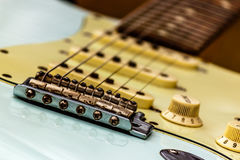 Guitar and Amplifier Closeup royalty free stock image