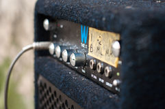 Guitar amplifier with a column Royalty Free Stock Photo