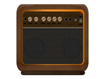 GUITAR AMPLIFIER COMBO. Stock Image