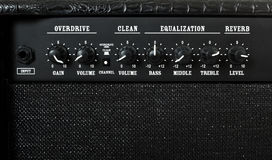 Guitar Amplifier Control Panel Stock Photos
