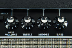 Guitar amplifier control panel Royalty Free Stock Image