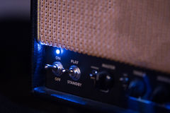 Guitar amplifier control panel, on-off Royalty Free Stock Photos
