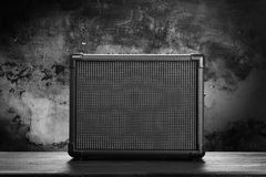 Guitar amplifier. On dark background royalty free stock image