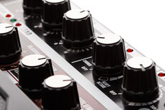 Guitar amplifier effects knobs Royalty Free Stock Photography