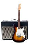 Guitar amplifier and electricguitar Stock Image