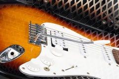 Guitar amplifier and electricguitar Royalty Free Stock Photos