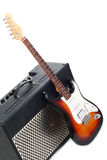 Guitar amplifier and electricguitar Royalty Free Stock Photos