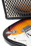 Guitar amplifier and electricguitar Royalty Free Stock Images