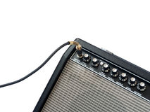 Guitar amplifier with jack cable isolated Stock Images