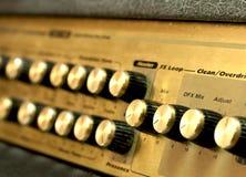 Guitar amplifier knobs Stock Image
