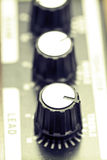 Guitar amplifier knobs Royalty Free Stock Photo