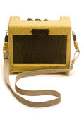 Guitar amplifier mini retro style Royalty Free Stock Images