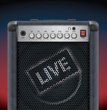 Guitar amplifier Royalty Free Stock Image