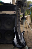 Guitar amplifier speaker bass equalizer equipment Royalty Free Stock Photo