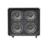 Guitar Amplifier Speaker Box with Clipping Path Stock Photo