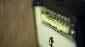 Guitar amplifier on studio. HD stock footage