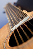 Guitar on Angle. A close up of a guitar on an angle Stock Photography
