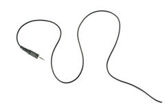 Guitar audio jack with black cable  on white background Royalty Free Stock Photography