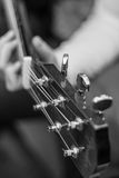 Guitar B/W Royalty Free Stock Images