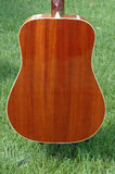Guitar Back. Back side of guitar body, detail of wood grain Stock Images