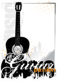 Guitar background. Guitar poster background in the s Stock Image