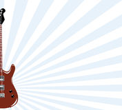 Guitar background. Guitar from which light rays diverge Royalty Free Stock Image