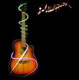 Guitar background Stock Photos