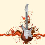 Guitar on a background Stock Images