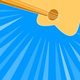 Guitar background. Guitar on the blue background Vector Illustration