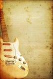 Guitar Background. Beautiful stratocasteron old nostalgic background used look Stock Photography