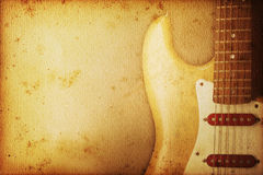Guitar Background Stock Photography