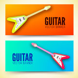 Guitar background concept. Vector illustration Royalty Free Stock Image