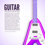 Guitar background concept. Vector illustration Stock Photography