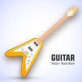 Guitar background concept. Vector illustration Royalty Free Stock Photography