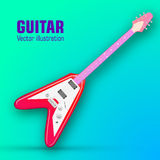 Guitar background concept. Vector illustration Stock Images