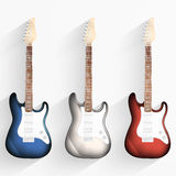 Guitar background. Set of musical instruments. Royalty Free Stock Photos
