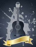 Guitar with banner Stock Photo