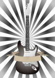 Guitar and banner Royalty Free Stock Photos