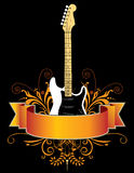 Guitar banner Stock Image