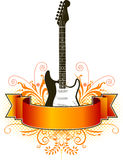 Guitar and banner background Stock Photo