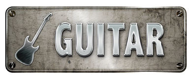 Guitar banner Stock Images