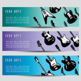 Guitar banners  Royalty Free Stock Images