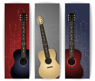 Guitar banners Royalty Free Stock Photos