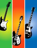 Guitar banners set Royalty Free Stock Photos
