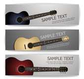 Guitar banners Royalty Free Stock Photography