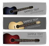 Guitar banners Royalty Free Stock Photo