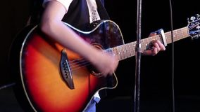 Guitar being played stock video footage