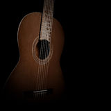 Guitar  on black background Stock Images