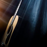 Guitar on a black background Stock Photography